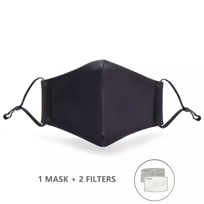 Mondkapje met 2 filters - Zwart