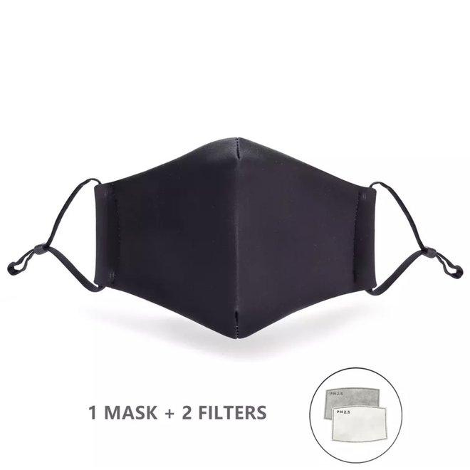 Mondkapje 100% katoen Zwart