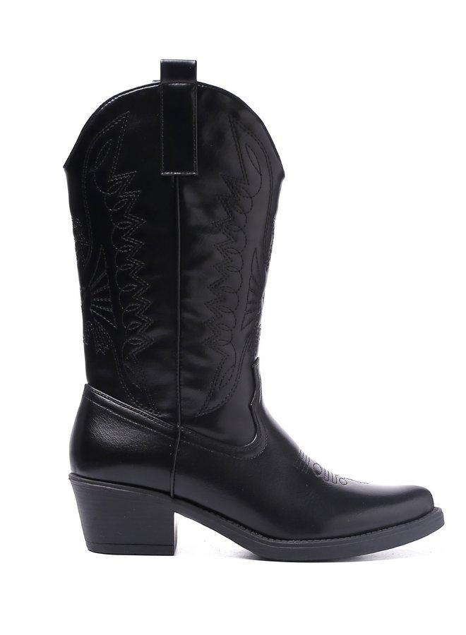 Cowboy laarzen Zwart