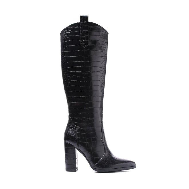 Laarzen Croco Zwart