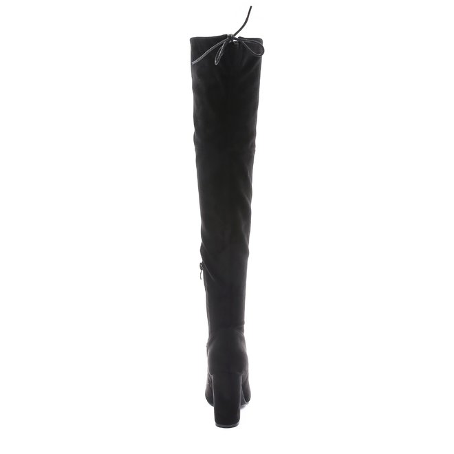 Overknee laarzen suede Zwart