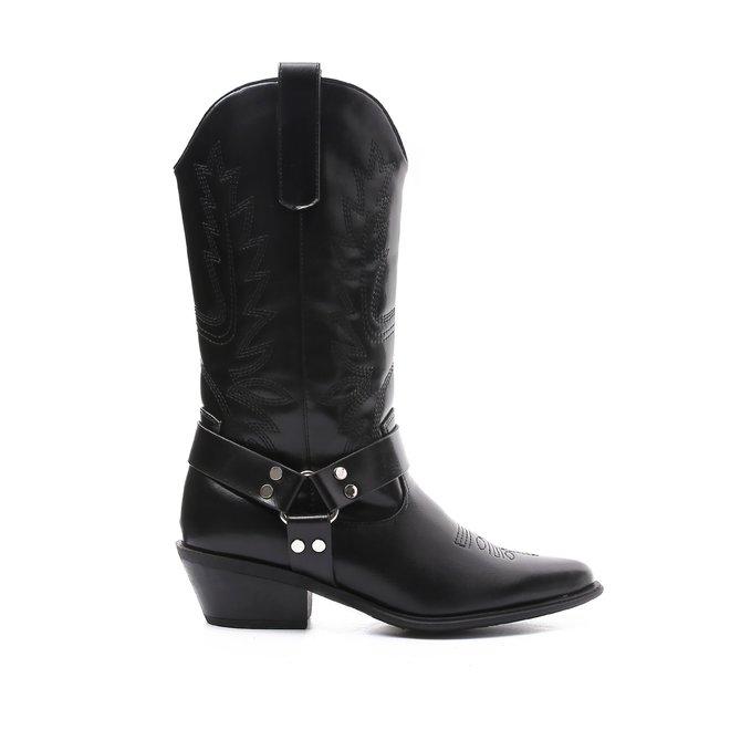 Cowboy laarzen Ring Zwart