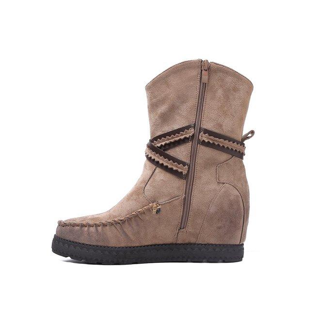 Bohemian boots Franjes Taupe Khaki