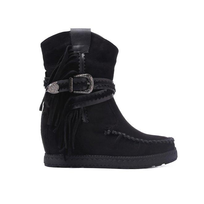 Bohemian boots Franjes Zwart