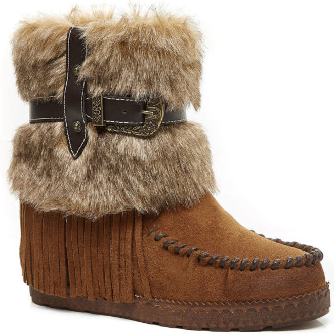 Bohemian boots Franjes en Bont Camel