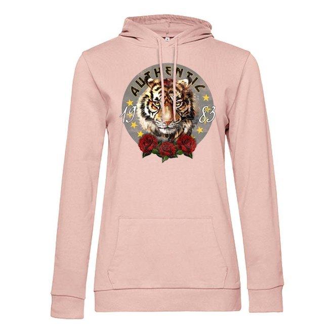 Azuka Dames hoodie Authentic print powder Pink