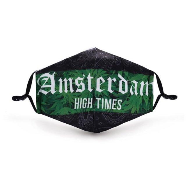 Mondkapje met 2 filters - Amsterdam high times