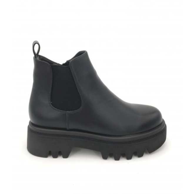 Dames Chelsea boots plateau Zwart