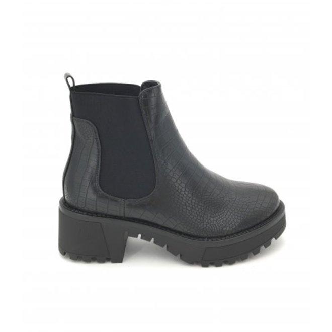 Chelsea boots Zwart croco