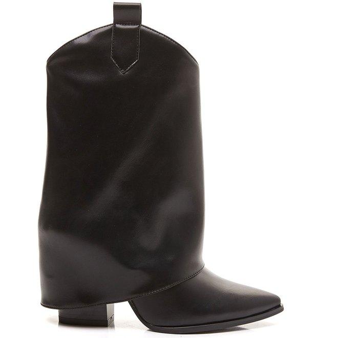Laarzen baglook punt Zwart