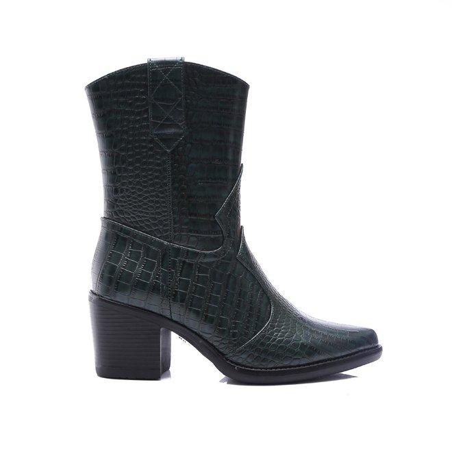 Cowboy boots croco Olive