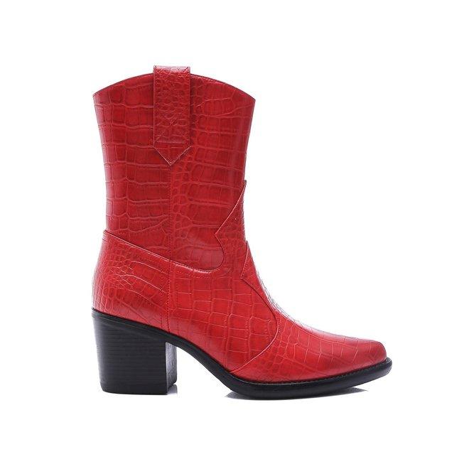 Cowboy boots croco Rood