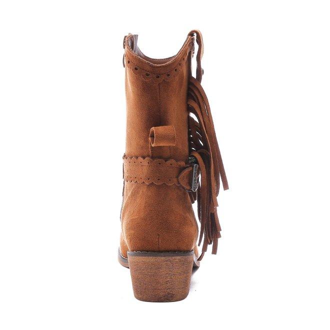 Cowboy boots kort Franjes Camel suède
