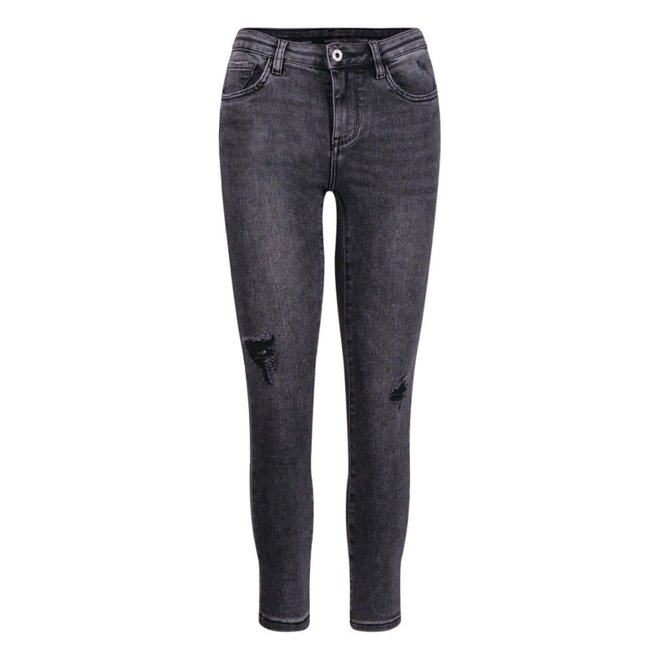 Queens hearts Jeans skinny destroyed Zwart