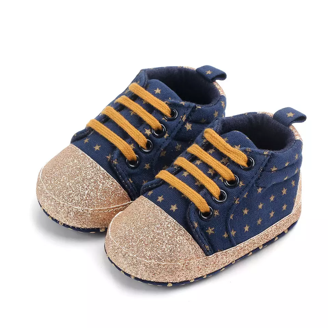 Baby sneakers star jeans Blauw