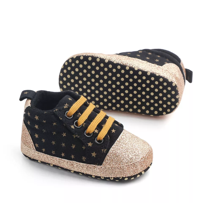 Baby sneakers star Zwart