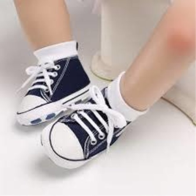 Baby sneakers all stars navy Blauw