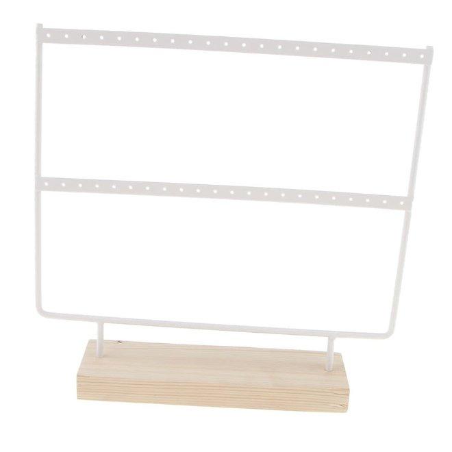 Oorbellen Display Wit 44 gaatjes 26,5 cm x 27 cm