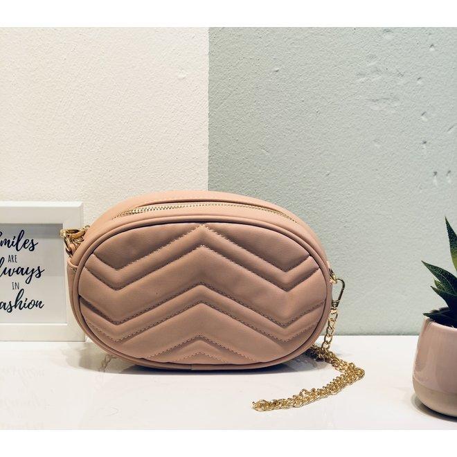 Schouder chain & heup tas roze