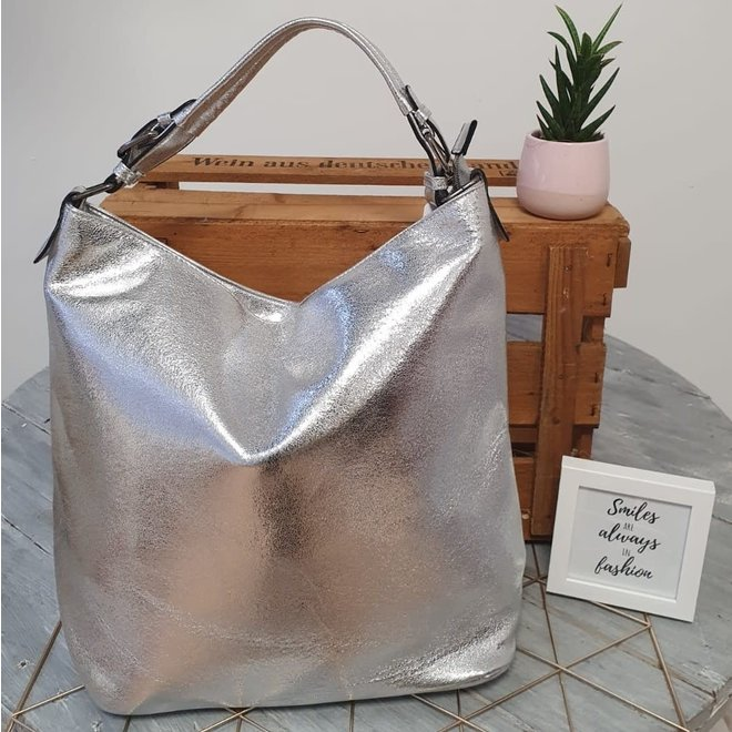 Shopper Metallic Zilver