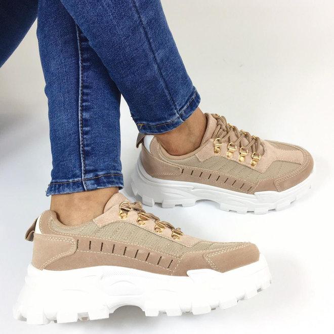 Sneakers dad look Beige