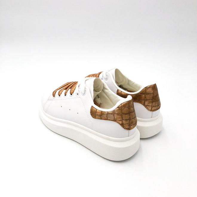 Sneakers Alexis Wit Brons