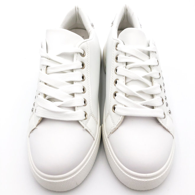 Sneakers snake studs Wit Zilver