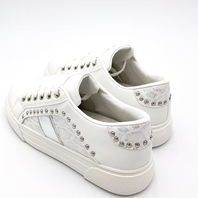 Sneakers snake studs Wit Zilver