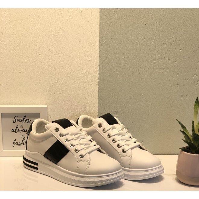 Sneakers sport croco Wit Zwart