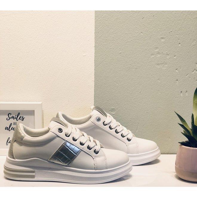 Sneakers sport croco Wit Zilver