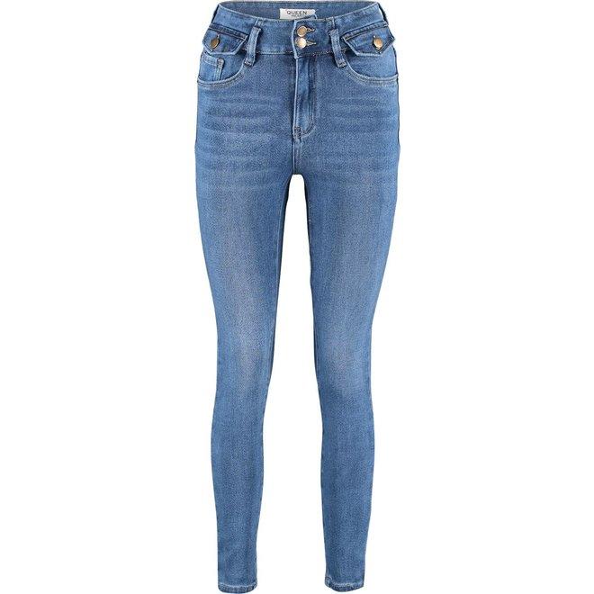 Queen Hearts jeans Blauw pocket