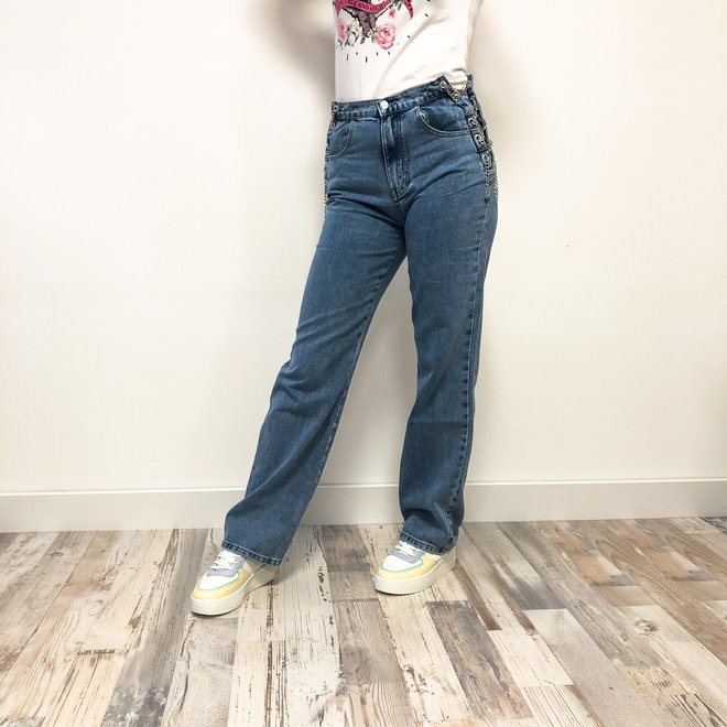 Mom Jeans Ketting Light blue