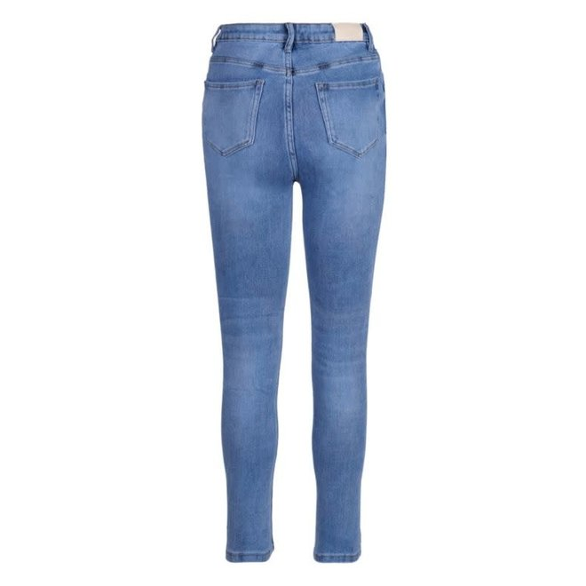 Jeans Skinny Medium Blue High Waist