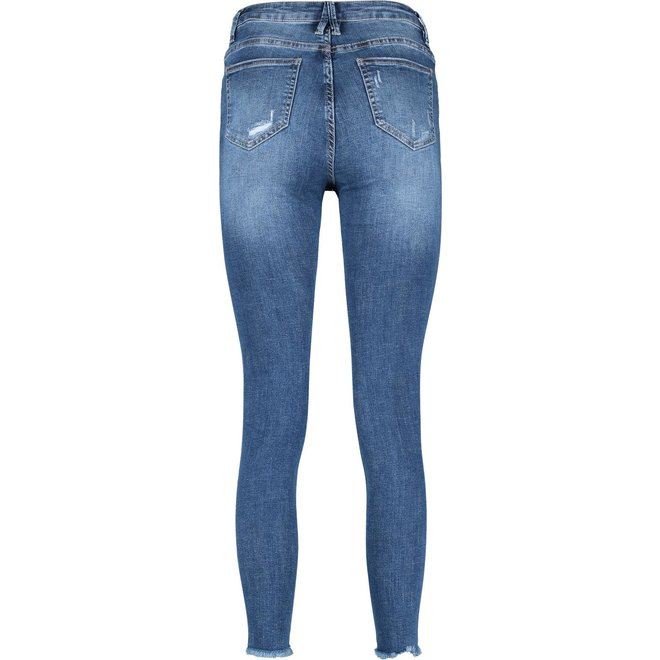 Queen Hearts jeans damaged Blauw