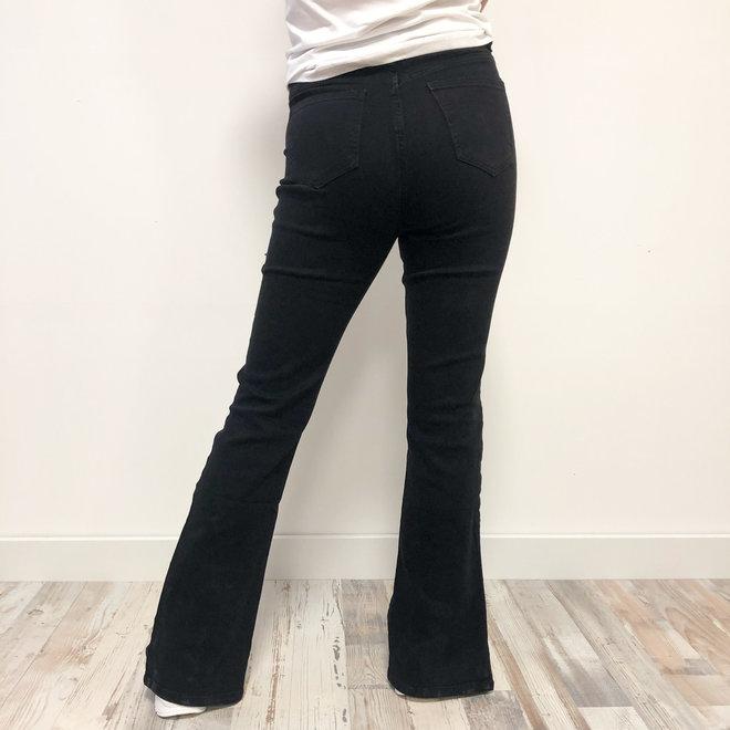 Jeans Flare Split Black