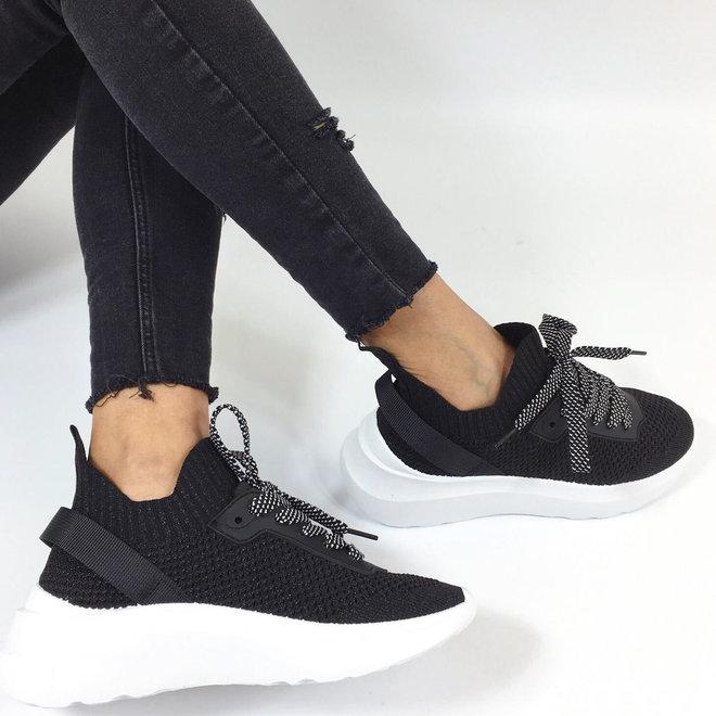 Sock Sneakers Sport Zwart
