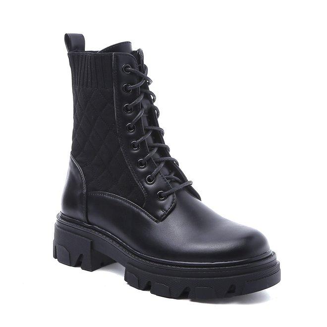 Veterboots Sock Zwart