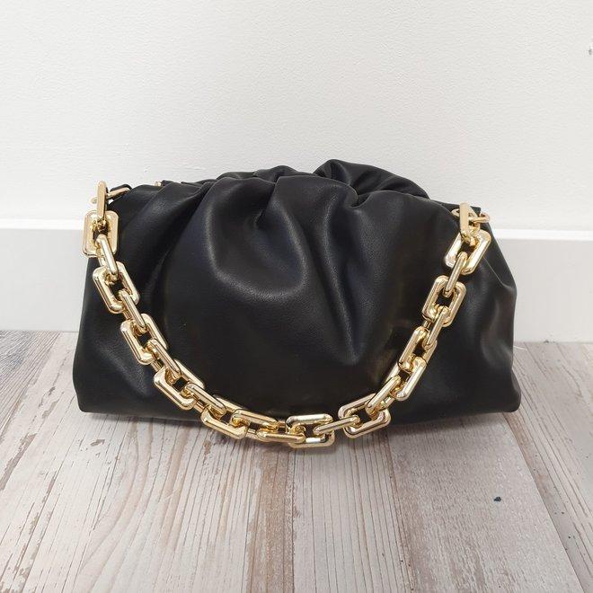 Schoudertas Chain Zwart Goud