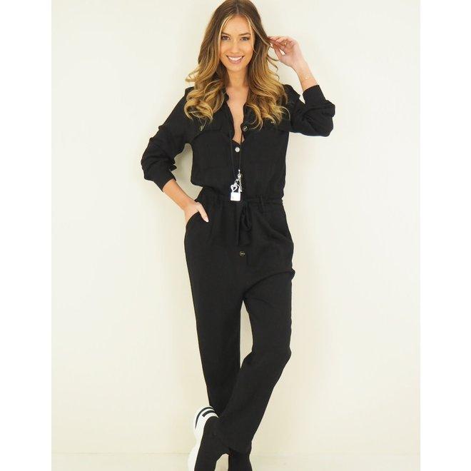 Jumpsuit Flap pockets Zwart