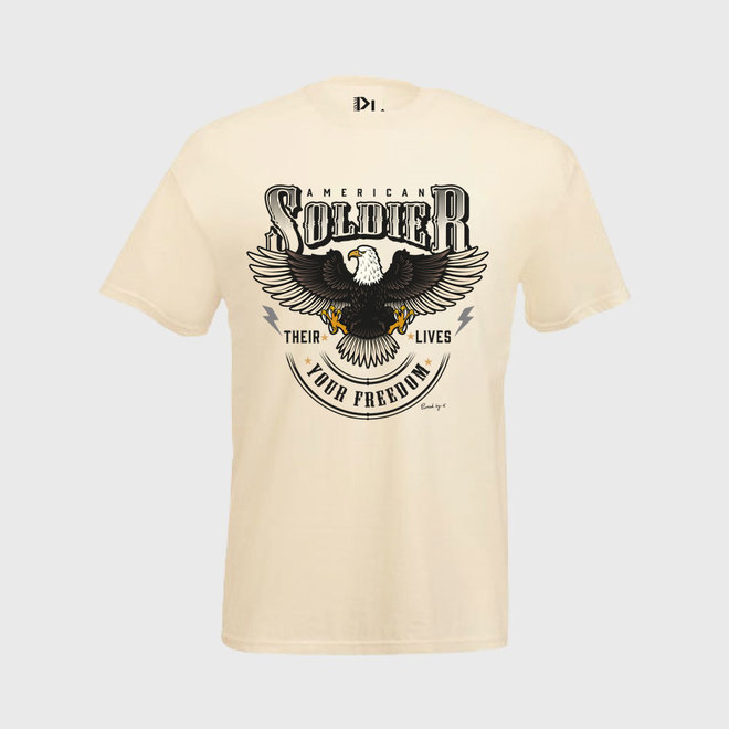 T-Shirt American Soldier Off White