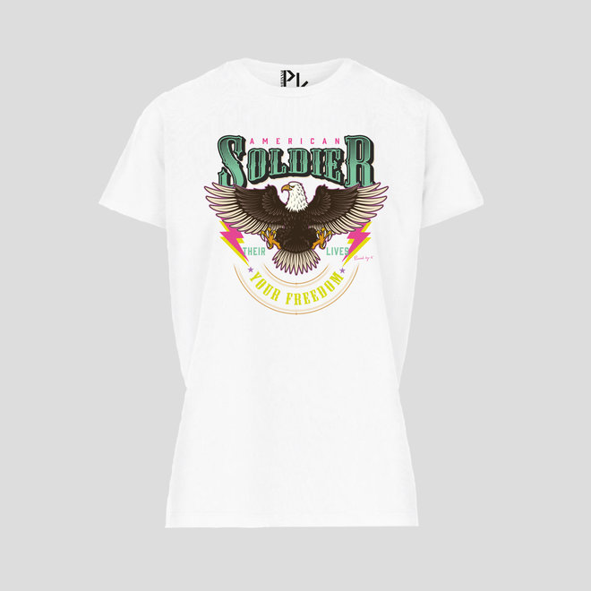 T-Shirt American Soldier White