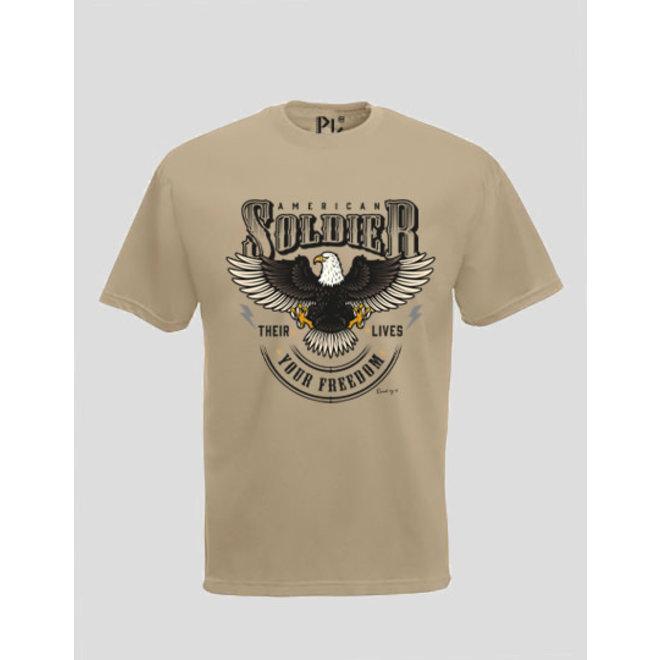 T-Shirt American Soldier Desert