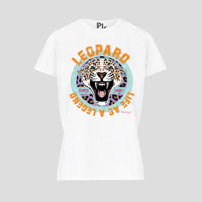 T-shirt leopard Legend White