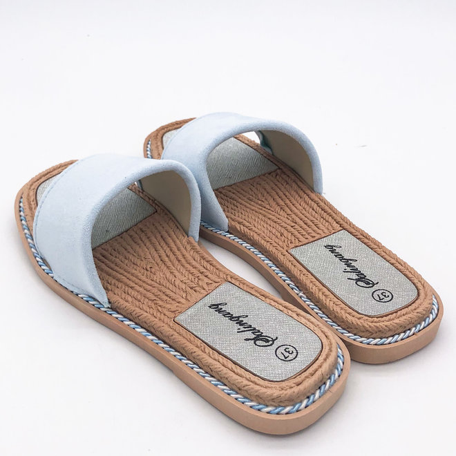 Slippers Suède Band Blauw