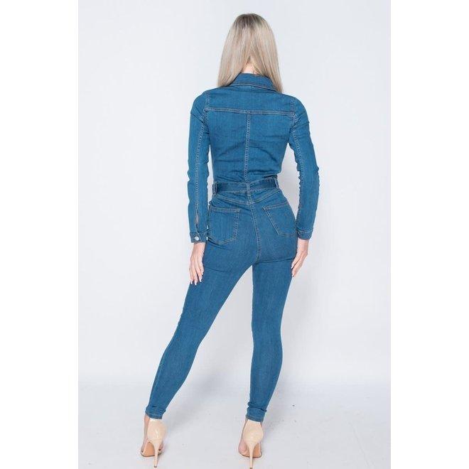 Jumpsuit Western Denim Blauw