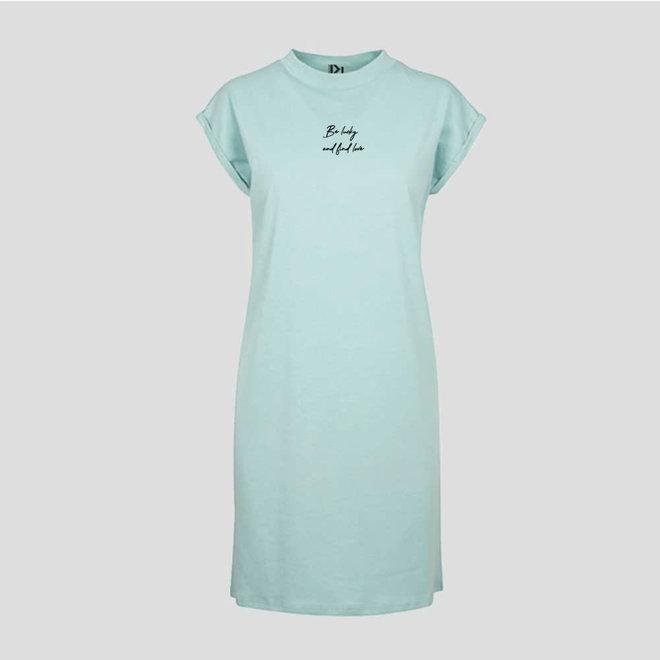 T-shirt Dress Mint Be Lucky