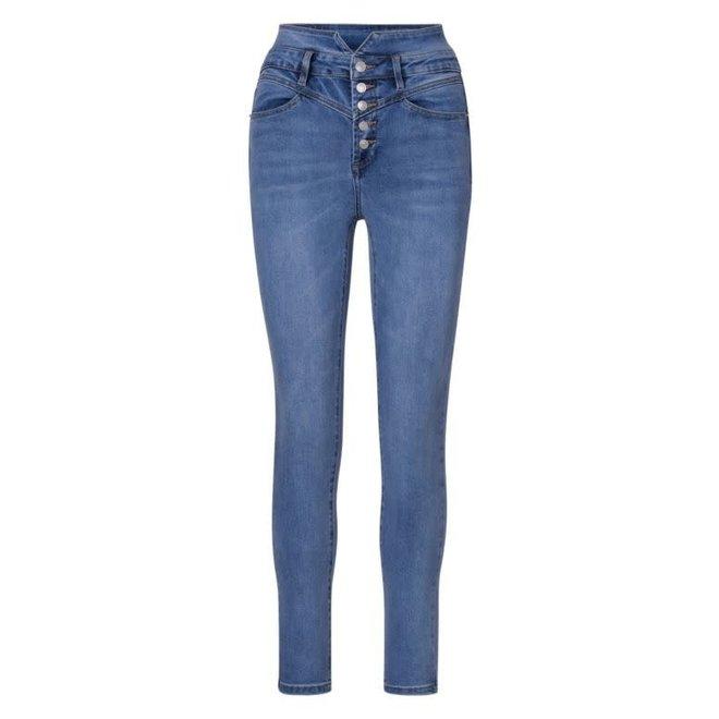 Jeans High Waist Medium Blue