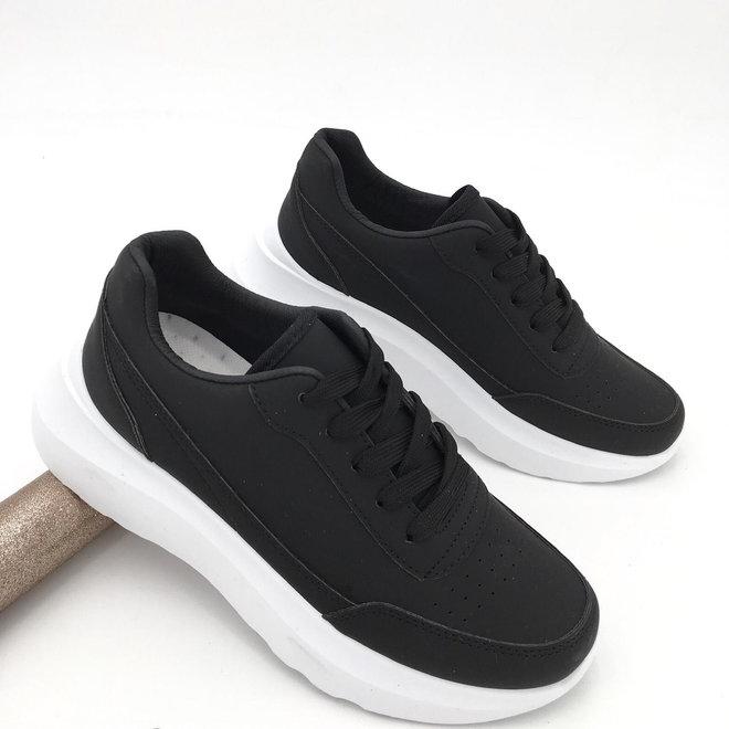 Sneakers street look Zwart Wit
