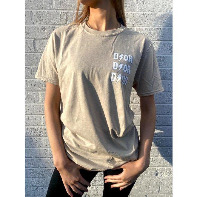 T-shirt D ⚡ O R Beige Wit