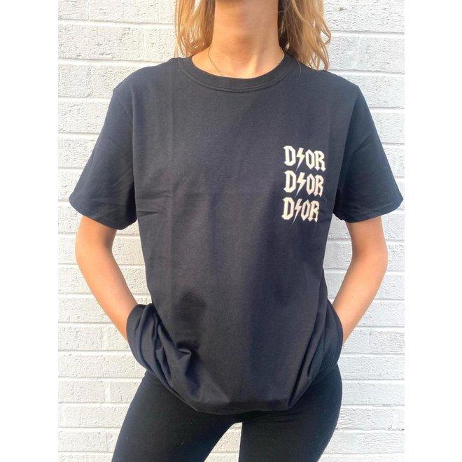 T-shirt D ⚡ O R Zwart